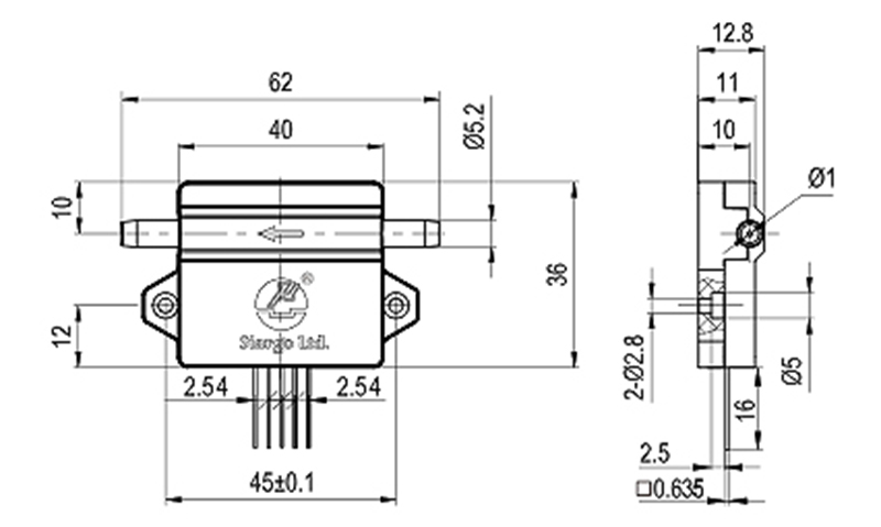 Liquid Flow Sensor Size